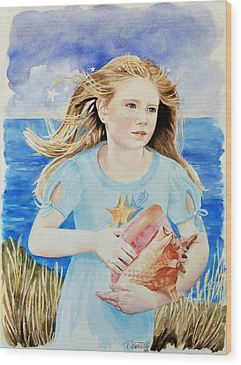 Genesis Conch Shell Rescuer Wood Print