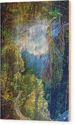 Wood Print featuring the digital art Genesis by Tom Romeo