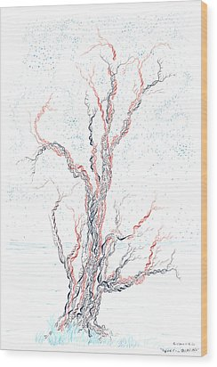 Genetic Branches Wood Print