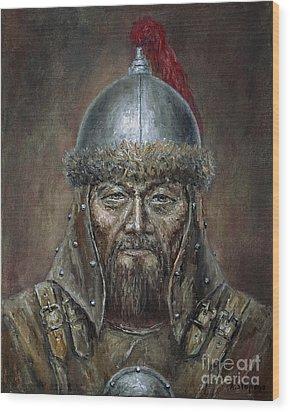 Genhis Khan Wood Print