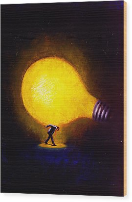 Genius Wood Print by Andrew Judd
