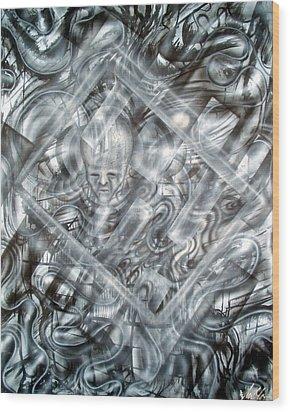 Genius Wood Print by Leigh Odom