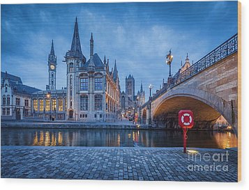 Gent Wood Print by JR Photography