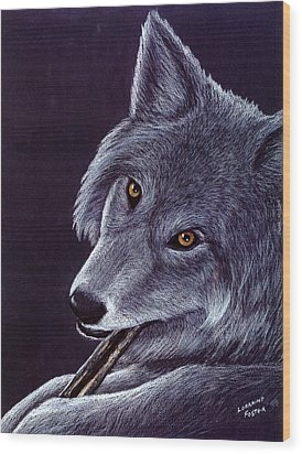 Gentle Eyes Wood Print by Lorraine Foster