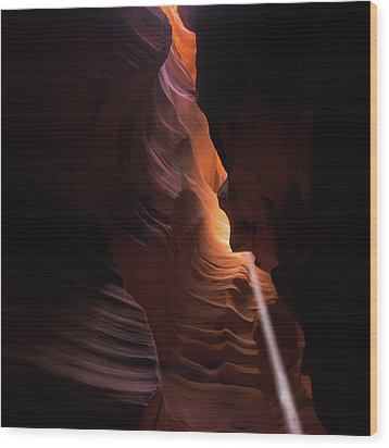 Wood Print featuring the photograph Gentle Light In Antelope Canyon by Gregory Ballos