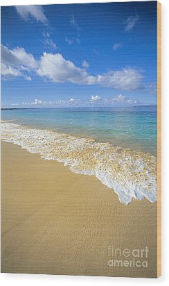 Gentle Waves Rolling Wood Print by Carl Shaneff - Printscapes