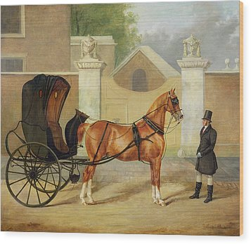 Gentlemen's Carriages - A Cabriolet Wood Print by Charles Hancock