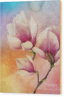 Gentleness Wood Print by Klara Acel