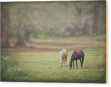 Wood Print featuring the photograph Gently Grazing by Lewis Mann