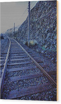 Wood Print featuring the photograph Gently Winding Tracks by Jeff Swan