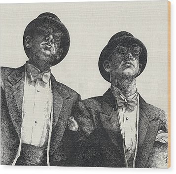 Gents Wood Print by Amy S Turner