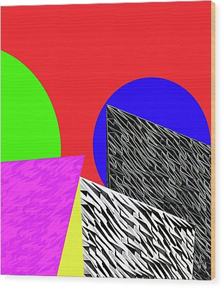 Geo Shapes 2 Wood Print by Bruce Iorio