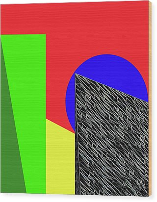 Geo Shapes 3 Wood Print by Bruce Iorio
