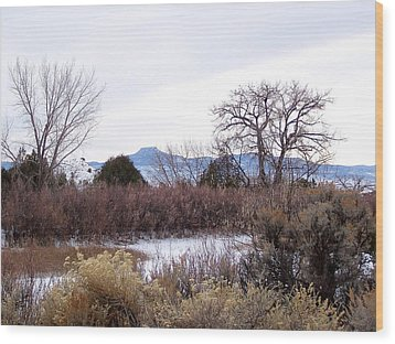 Geogia O'keefe's Pedernal Mountain Wood Print