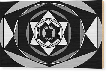 'geometric 1' Wood Print by Linda Velasquez