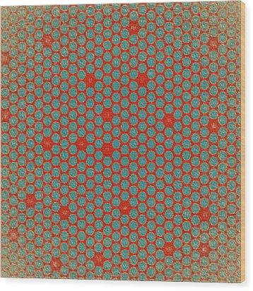 Wood Print featuring the digital art Geometric 2 by Bonnie Bruno