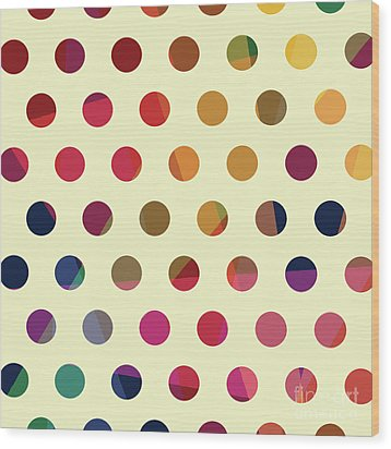 Wood Print featuring the mixed media Geometric Dots by Carla Bank