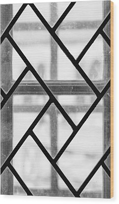 Wood Print featuring the photograph Geometric Glasswork by Christi Kraft