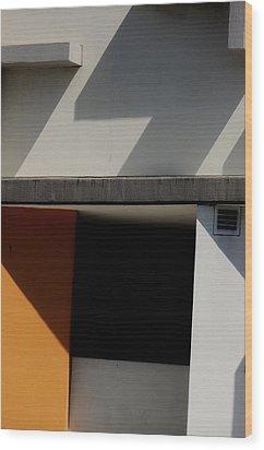 Geometric Shadows Wood Print