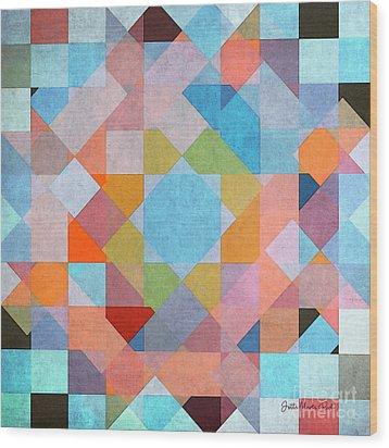Wood Print featuring the digital art Geometry by Jutta Maria Pusl
