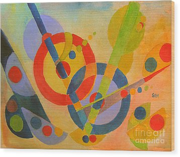 Geometry Wood Print by Sandy McIntire