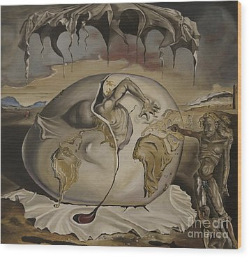 Dali's Geopolitical Child Wood Print