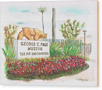 George C. Page Museum, Los Angeles - California Wood Print