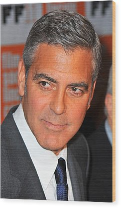 George Clooney At Arrivals For The Wood Print by Everett
