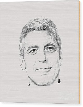 George Clooney  Wood Print by Herb Strobino