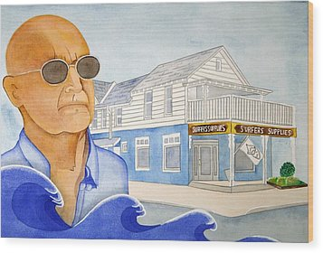 Wood Print featuring the painting George Gerlach by Paul Amaranto