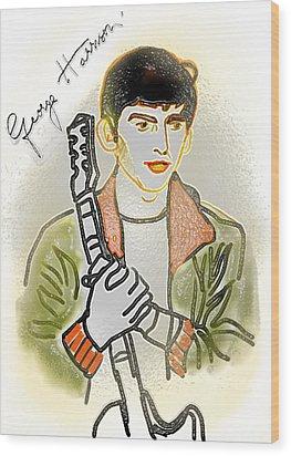 George Harrison - 3 Wood Print by GooDaCool Gallery