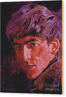 George Harrison Wood Print by David Lloyd Glover