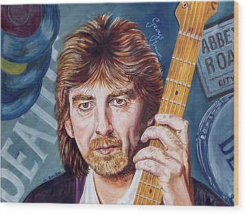 George Harrison Wood Print by Graham Swan