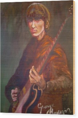 George Harrison Wood Print by Leland Castro