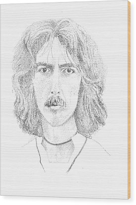 George Harrison Wood Print by Terry Adamick