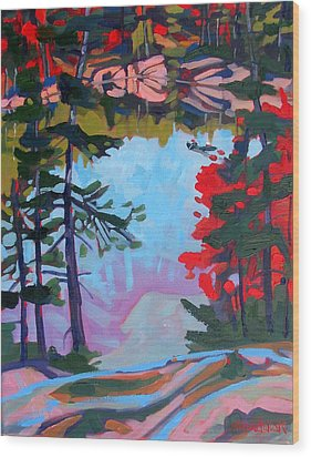 George Lake East Basin Wood Print by Phil Chadwick
