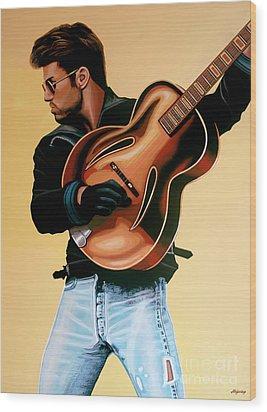 George Michael Painting Wood Print