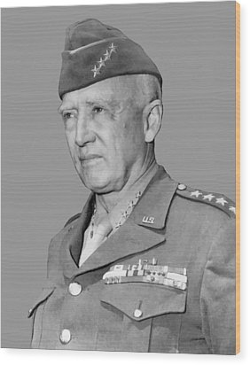 George S. Patton Wood Print by War Is Hell Store