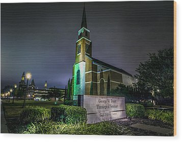 Wood Print featuring the photograph George W Truett Seminary At Baylor University by David Morefield