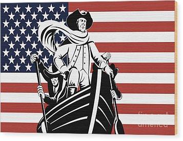 George Washington Wood Print by Aloysius Patrimonio