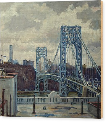 George Washington Bridge Wood Print by Thor Wickstrom