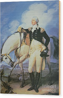 George Washington Wood Print by John Trumbull