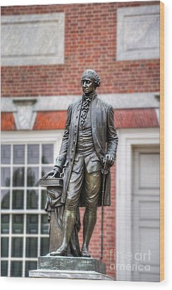 George Washington Statue Wood Print by David Zanzinger