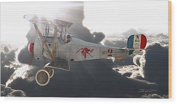 Georges Guynemer Nieuport 17 Wood Print by David Collins