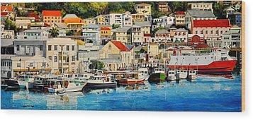 Georgetown Harbor, Grenada Wood Print