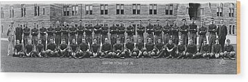 Georgetown U Football Squad Wood Print by Panoramic Images