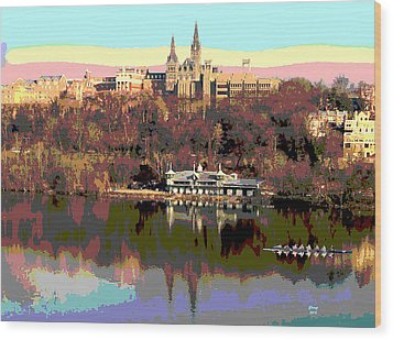 Georgetown University Crew Team Wood Print