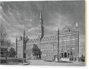 Georgetown University Healy Hall Wood Print by University Icons