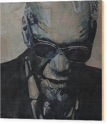 Wood Print featuring the painting Georgia On My Mind - Ray Charles  by Paul Lovering