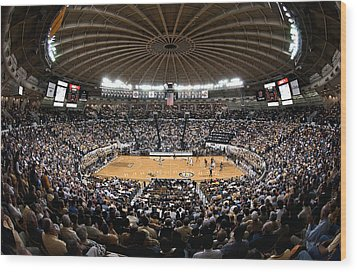 Georgia Tech Yellow Jackets Alexander Memorial Coliseum Wood Print by Replay Photos